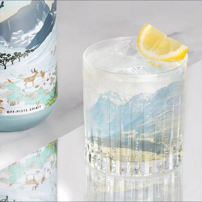 Off-Piste Spirit gin & tonic